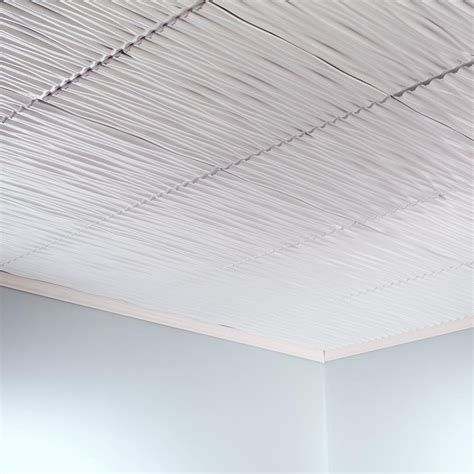 ceiling tiles fasade ceiling tile 2x2 direct apply dunes horizontal in gloss white