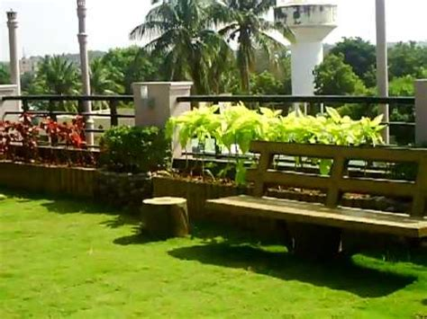 roof top garden   house  india youtube