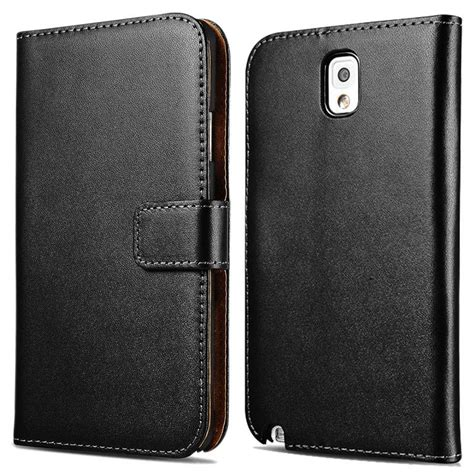 Samsung Note 3 Flip Wallet Leather Casing Cover Dompet Kulit Kuat genuine leather for samsung galaxy note 3 n9000 phone