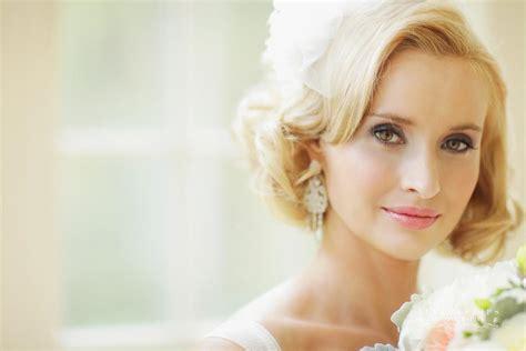 blonde vintage hairstyles blonde vintage bride short wedding hair 2 onewed com