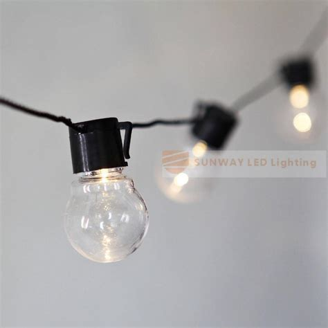 novelty light strings novelty 20 led g45 globe connectable festoon