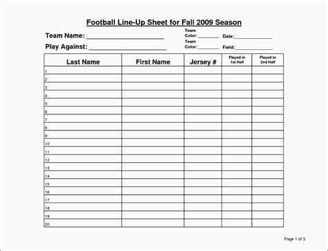 Blank Football Play Sheet Template