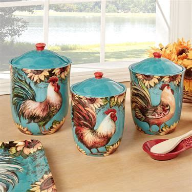 rooster kitchen canister sets best 25 rooster kitchen ideas on chicken