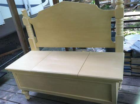 Headboard Bench With Storage by Headboard Bench With Storage Diy Repurpose
