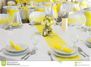yellow wedding decorations wedding table decoration stock photo image of festive
