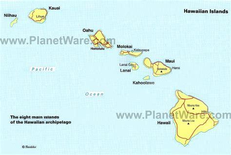 us map hawaii islands hawaiian islands distance map