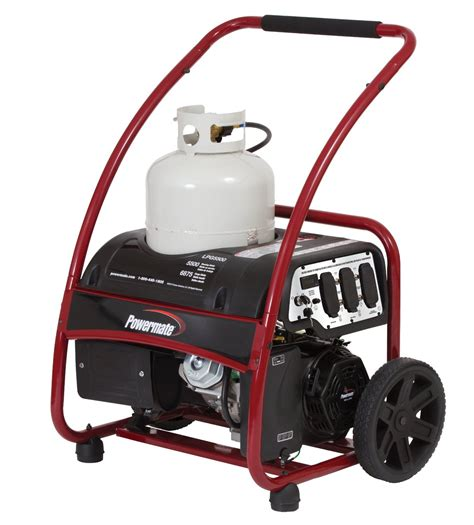 powermate portable propane generator 6875 watt electric