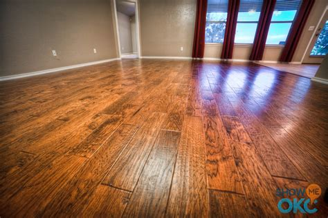 closeup of gorgeous scraped hardwood floors showmeokc