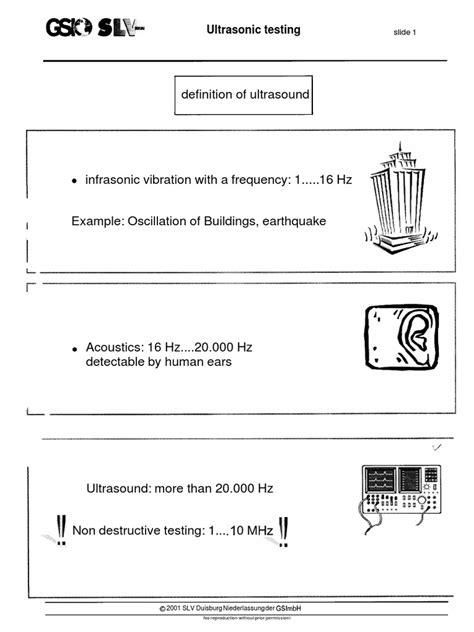 definition of ultrasound: Ultrasonic testing