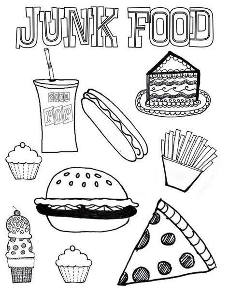 printable junk food coupons junk food coloring page download print online coloring
