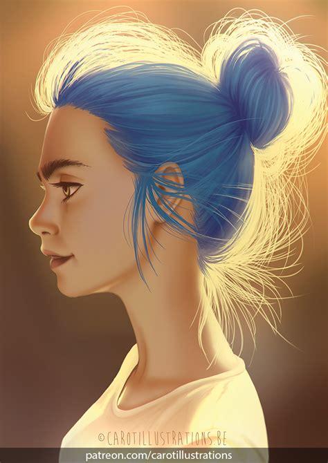 subreddits for hair bun carotillustrations digital painting 2016 flipmeme