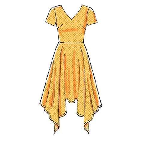 dress pattern handkerchief hem misses handkerchief hem dresses mccalls sewing pattern