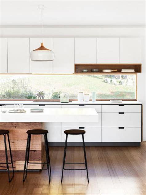 Cuisine Moderne Et Blanc by La Cuisine Blanche Et Bois En 102 Photos Inspirantes
