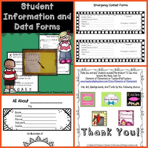 Template For Emergency Card Info For Student Volunteer by 17 Best Images About Forms Templates Lesson Plans For