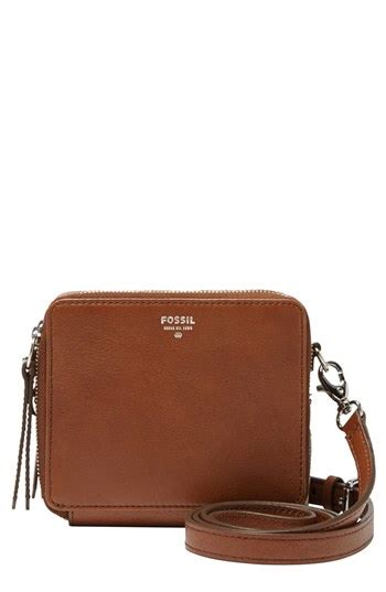 Fossil Sydney Shopper Original Bag Tas Ori Authentic fossil sydney mini leather crossbody bag brown where to buy how to wear