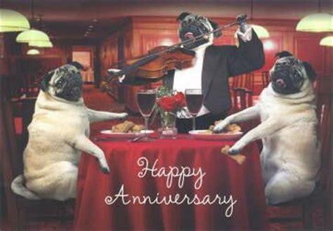 pug anniversary card pugs dogbreed gifts pug greeting cards notecards