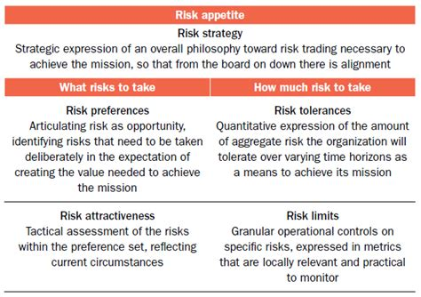 risk appetite template risk appetite tolerances and limits tying the pieces