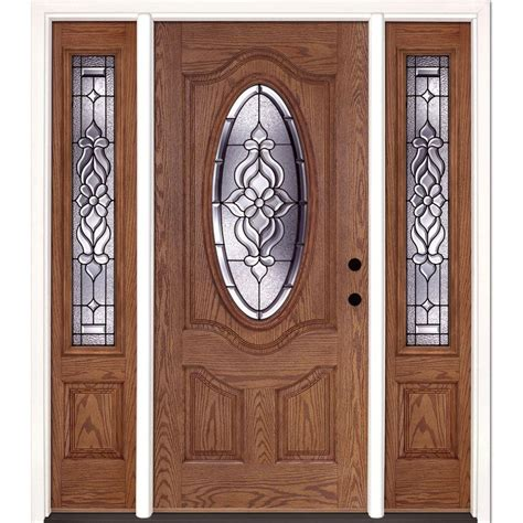 doors with sidelites feather river doors 67 5 in x 81 625 in 6 lite clear