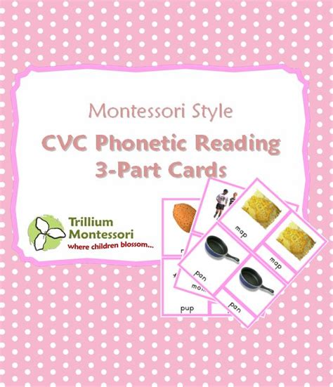 free printable montessori pink cards 17 best images about montessori pink reading series on