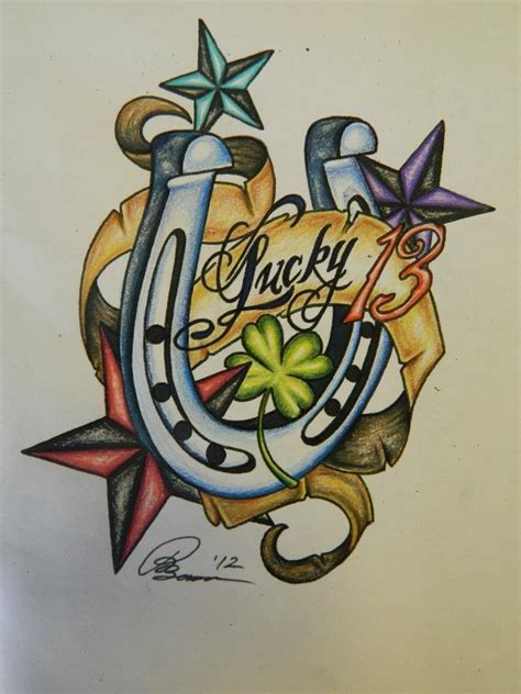 luck tattoo designs 17 best images about lucky 13 designs