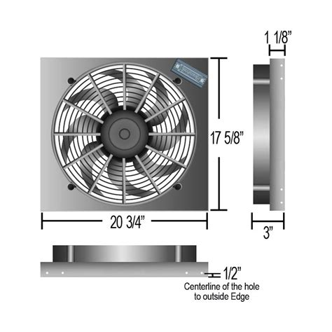 electric radiator fans and shrouds derale performance 174 single electric radiator fan