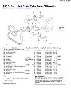 bmw e30 e36 belt replacement 3 series 1983 1999