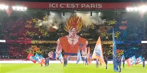 fans brought  massive goku  paris saint germain match