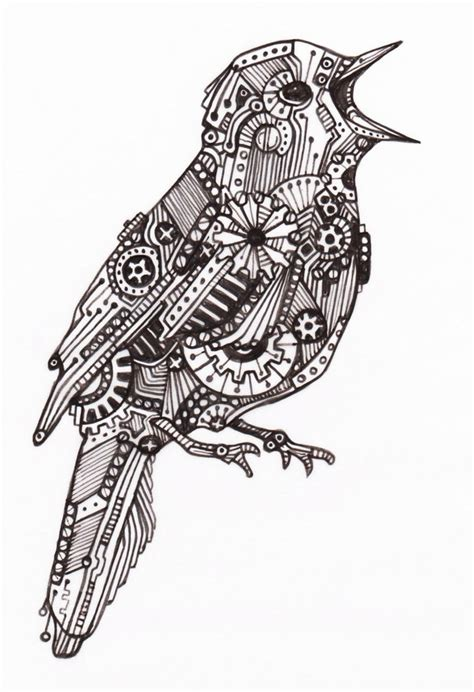 zentangle tattoo zentangle bird projects to try
