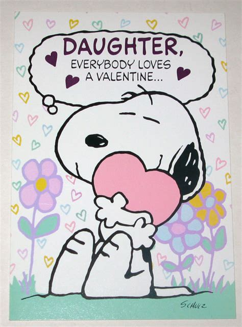 printable valentine card for daughter peanuts snoopy st valentine s day cards stickers for