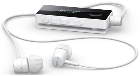 Headset Sony Sbh50 sony sbh50 bluetooth headset touts nfc and a smart remote