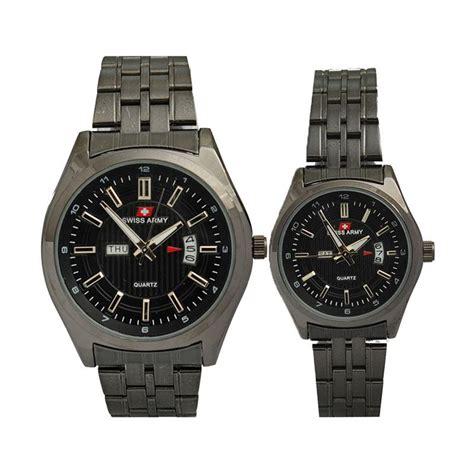 Jam Cuopel Swiss Army Paku Black jual swiss army sa019cfb casual jam tangan black harga kualitas terjamin