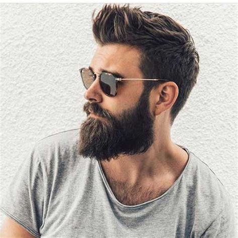 Best Hairstyle With Beard by Trendy Medium Cut Hairstyles For You To See