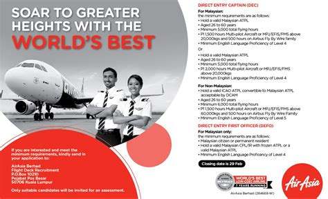 airasia indonesia pilot recruitment fly gosh air asia pilot recruitment direct entry first