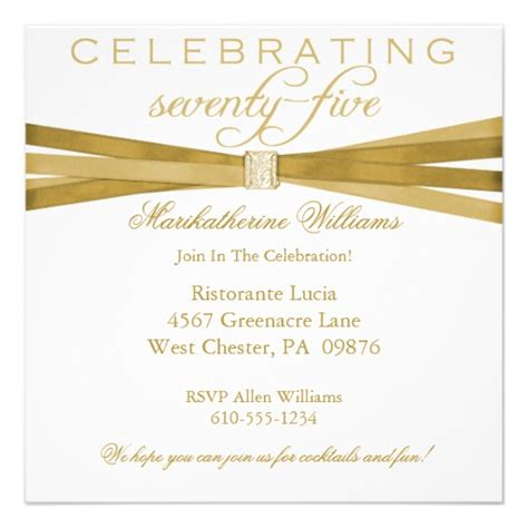 75th birthday invitation templates 75th birthday invitations