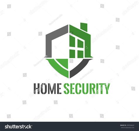 home security logo vector illustration stock vector