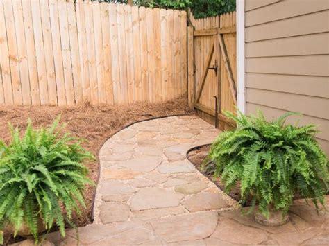 lay  flagstone pathway  tos diy