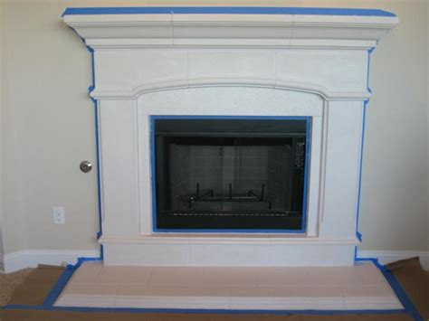 Faux Painting Austin - my new faux paint fireplace more building saga completed
