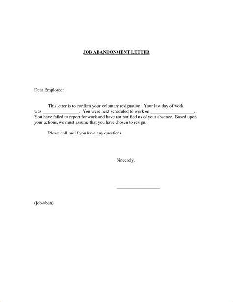 6  job abandonment letterReport Template Document   report