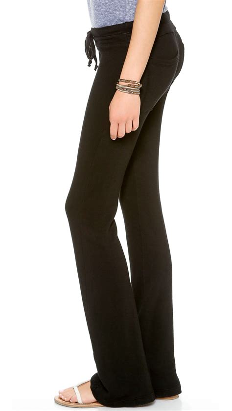 Wide Leg Sweatpants lyst splendid wide leg sweatpants black in black