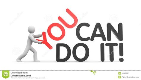 you can do it stock illustration image 51083267