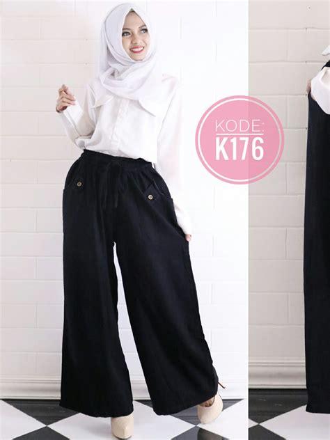 Celana Karet Polo Celana Karet Murah celana kulot polos k176 baju style ootd