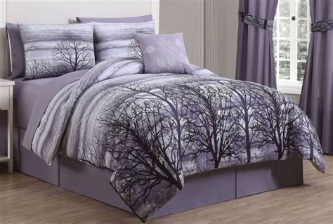 forest bedding alcove forest comforter set king plum half a home