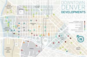 map of downtown denver colorado new downtown denver development map denverinfill