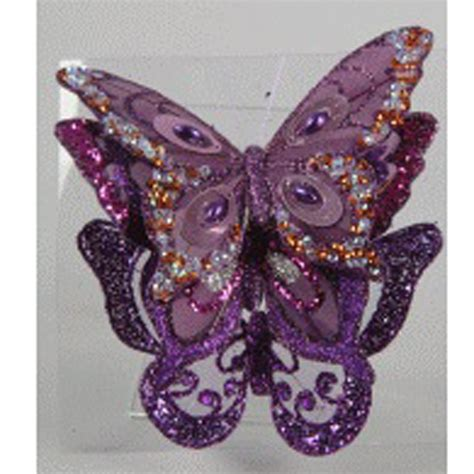 Decorative Butterflies With by Assorted Clip On Purple Feather Butterflies 3 X 12cm