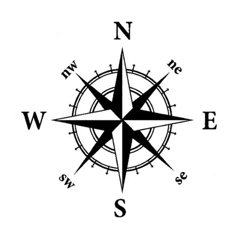 14cm 14cm nswe originality nautical compass vinyl decal