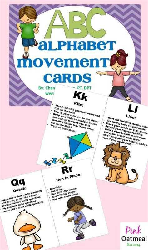printable alphabet movement cards 153 best gym images on pinterest physical education