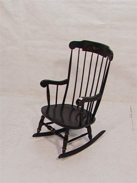 ethan allen black chairs 196 black ethan allen stencil rocker rocking chair lot 196