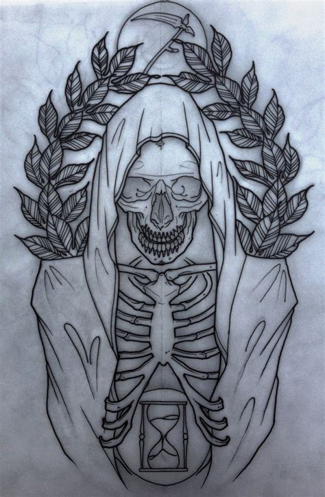 reaper tattoo design grim reaper neo traditional grim reaper