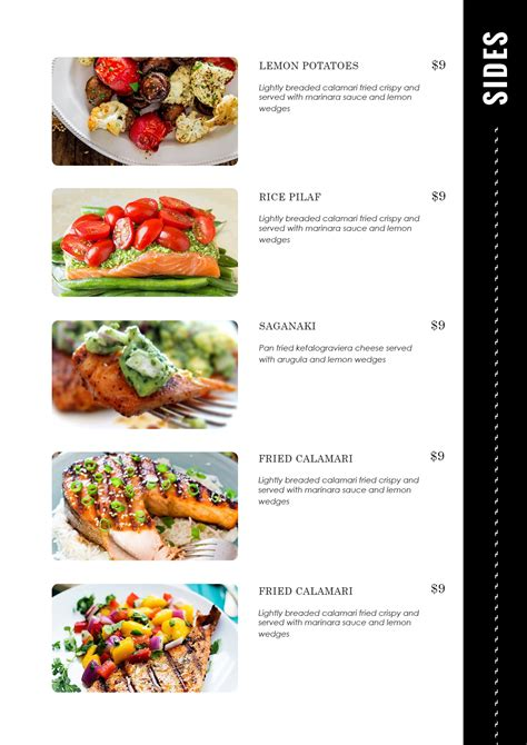 Food Templates by Design Templates Menu Templates Wedding Menu Food