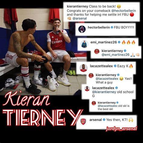 tierneys arsenal teammates responded  ig